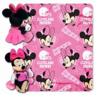 Cleveland Browns Minnie Mouse Throw Blanket