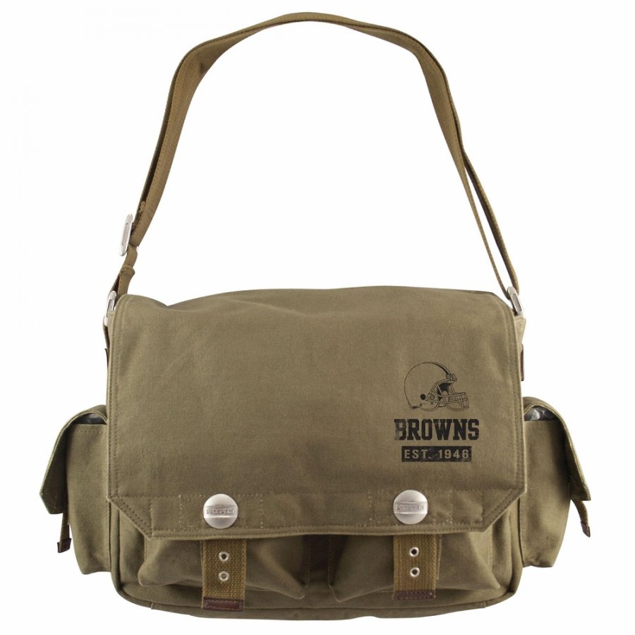Cleveland Browns Olive Prospect Messenger Bag