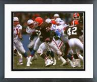 Cleveland Browns Pepper Johnson 1995 Action Framed Photo
