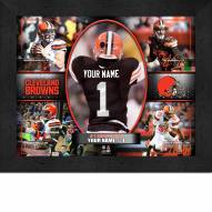 Cleveland Browns Personalized Framed Action Collage