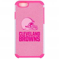 Cleveland Browns Pink Pebble Grain iPhone 6/6s Case