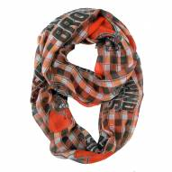 Cleveland Browns Plaid Sheer Infinity Scarf