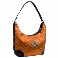 Cleveland Browns Quilted Hobo Handbag