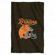 Cleveland Browns Script Sweatshirt Throw Blanket