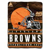 Cleveland Browns Silk Touch Stacked Blanket