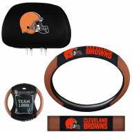 Cleveland Browns Steering Wheel & Headrest Cover Set