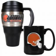 Cleveland Browns Travel Mug & Coffee Mug Set