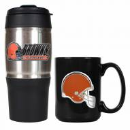 Cleveland Browns Travel Tumbler & Coffee Mug Set