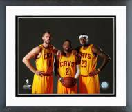 Cleveland Cavaliers Kevin Love, Kyrie Irving, & LeBron James 2014 Framed Photo