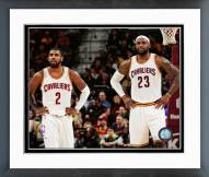 Cleveland Cavaliers Kyrie Irving & LeBron James 2014-15 Action Framed Photo