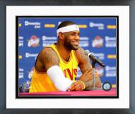 Cleveland Cavaliers LeBron James 2014 Press Conference Framed Photo