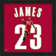 Cleveland Cavaliers LeBron James NBA Uniframe Framed Jersey Photo