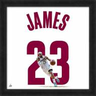 Cleveland Cavaliers LeBron James Uniframe Framed Jersey Photo