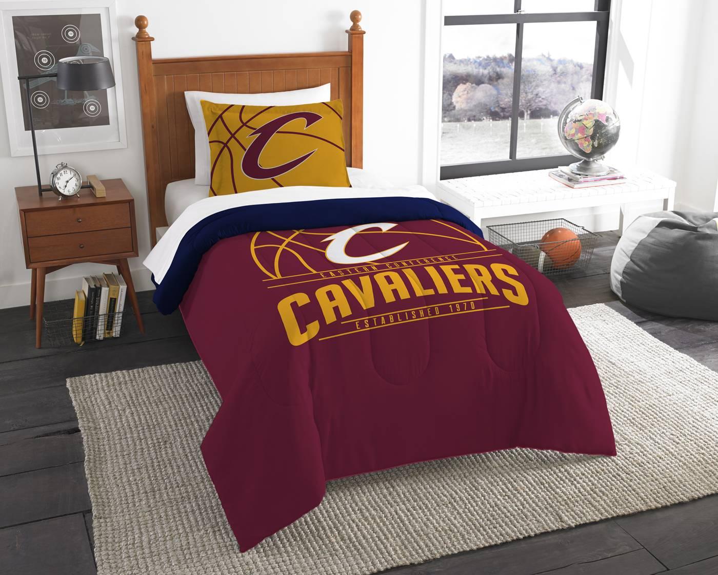 cleveland cavaliers reverse slam twin comforter set