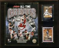 "Cleveland Indians 12"" x 15"" All-Time Greats Photo Plaque"