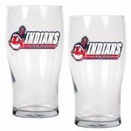 Cleveland Indians 20 oz. Pub Glass - Set of 2