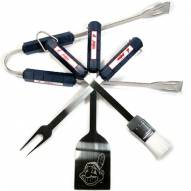 Cleveland Indians 4-Piece Stainless Steel BBQ Set