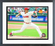 Cleveland Indians Carlos Carrasco 2015 Action Framed Photo