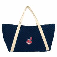 Cleveland Indians Chevron Stitch Weekender Bag