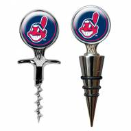Cleveland Indians Cork Screw & Wine Bottle Topper Set