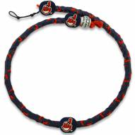Cleveland Indians Frozen Rope Color Baseball Necklace
