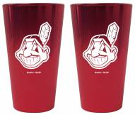 Cleveland Indians Lusterware Pint Glass - Set of 2