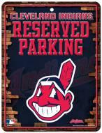 Cleveland Indians Metal Parking Sign