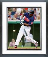 Cleveland Indians Michael Bourn 2014 Action Framed Photo