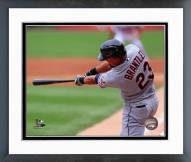 Cleveland Indians Michael Brantley 2014 Action Framed Photo