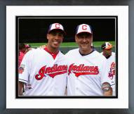 Cleveland Indians Michael Brantley & Terry Francona Framed Photo