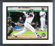 Cleveland Indians Nick Swisher 2015 Action Framed Photo