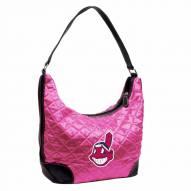 Cleveland Indians Pink MLB Quilted Hobo Handbag