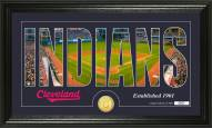 Cleveland Indians Silhouette Bronze Coin Panoramic Photo Mint