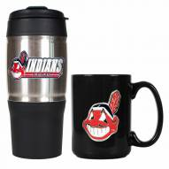 Cleveland Indians Travel Tumbler & Coffee Mug Set