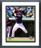 Cleveland Indians Yan Gomes 2014 Action Framed Photo