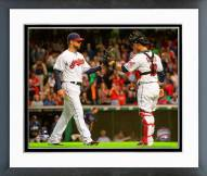 Cleveland Indians Yan Gomes & Corey Kluber 2014 Action Framed Photo