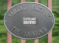 Cleveland Browns NFL Personalized Logo Plaque - Pewter Silver