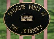 Cleveland Browns NFL Personalized Logo Plaque - Black Gold