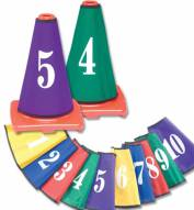 Color My Class Numbered Cone Covers - Set of 10