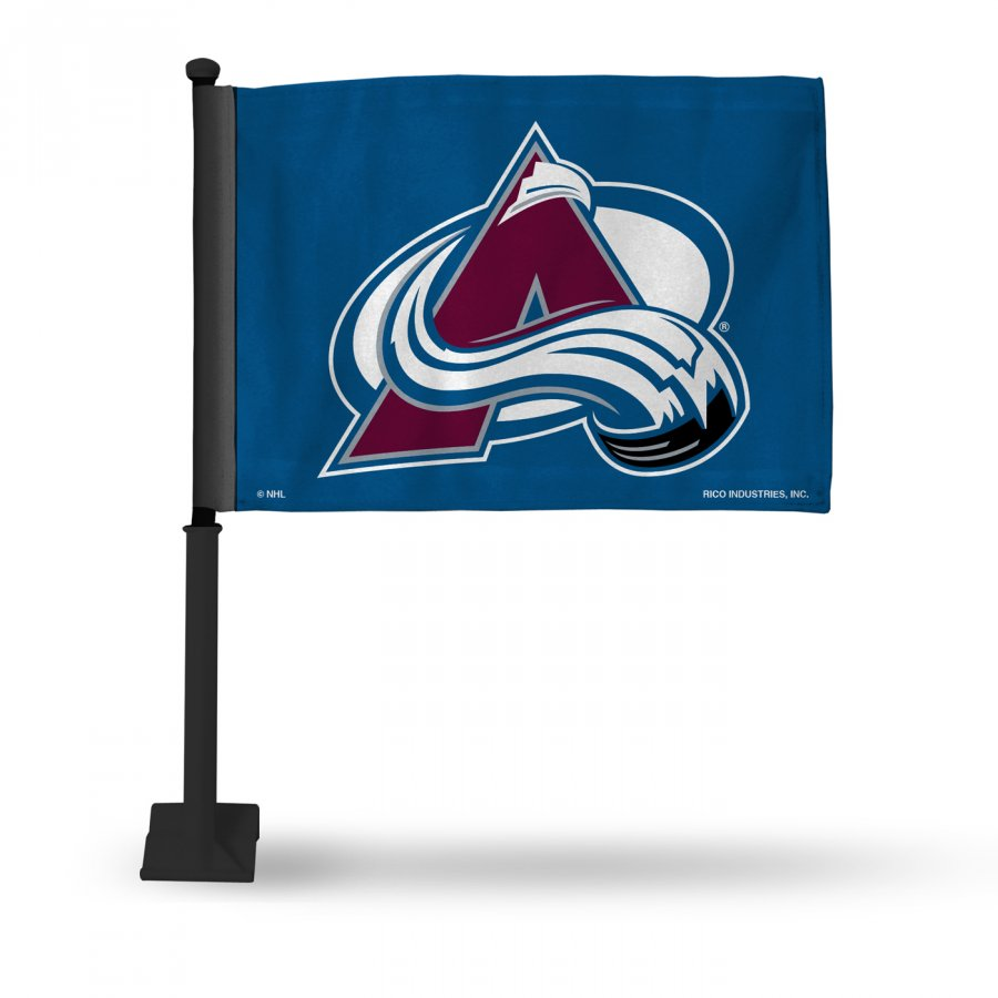 Colorado Avalanche Car Flag with Black Pole