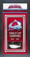 Colorado Avalanche Framed Championship Print