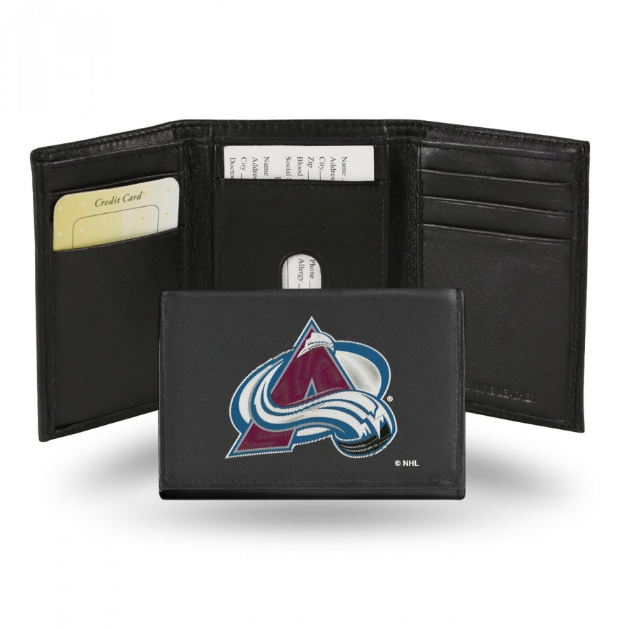 Colorado Avalanche NHL Embroidered Leather Tri-Fold Wallet