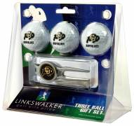Colorado Buffaloes Golf Ball Gift Pack with Kool Tool