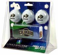 Colorado Buffaloes Golf Ball Gift Pack with Slider Clip