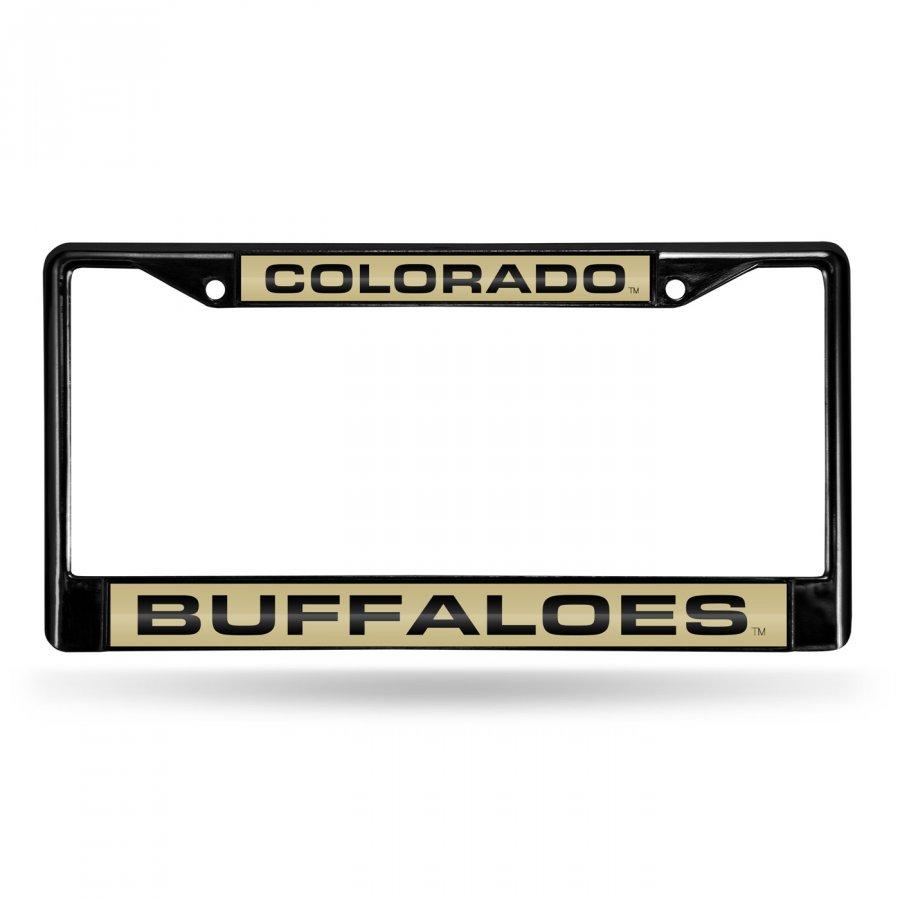 Colorado Buffaloes Laser Black License Plate Frame