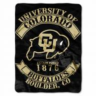 Colorado Buffaloes Rebel Raschel Throw Blanket