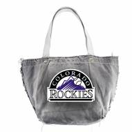 Colorado Rockies Black MLB Vintage Tote Bag
