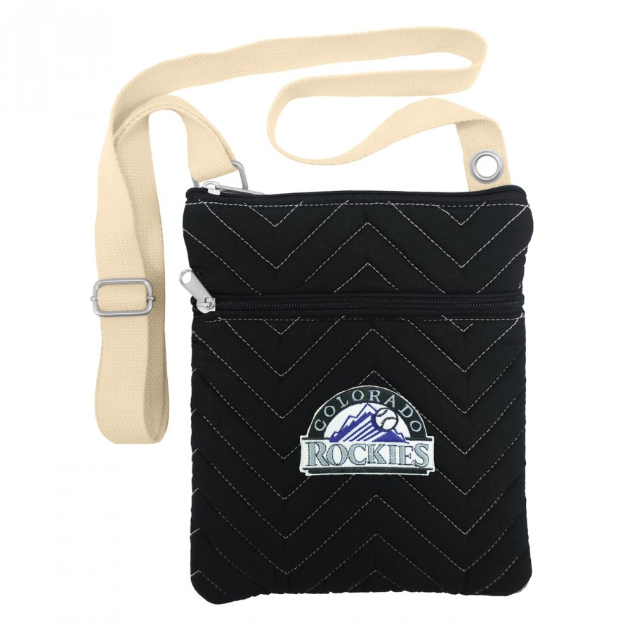 Colorado Rockies Chevron Stitch Crossbody Bag