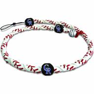 Colorado Rockies Frozen Rope Baseball Necklace