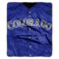 Colorado Rockies Jersey Raschel Throw Blanket